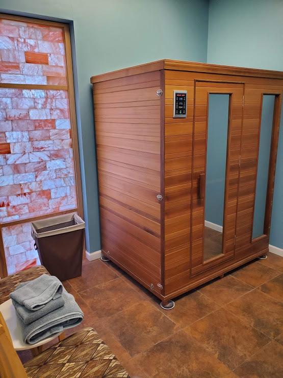 Infrared Sauna at The Salt Room Woodbury